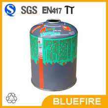 Empty tin gas cylinder for butane gas filling