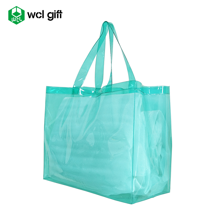 transparent plastic customized PVC waterproof beach bag/shopping bag