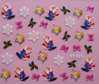 Nail Sticker Lovely 3d Christmas Nail Sticker nail tips decoration