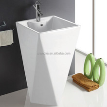 Free standing Bathroom Unique Pedestal Sinks for hotel one piece kitchen sink and countertop