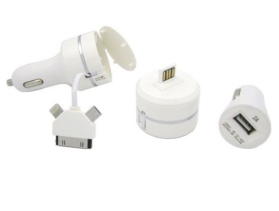Smart USB Car Charger Include 3 in 1 Charging Cable for Asus, Coolpad, Micromax, Tecno, Infinix, ITEL and Other Tablets.....