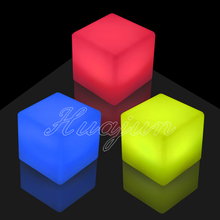Christmas decoration color changing plastic led light cube stool