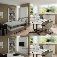 Queen size wall bed hot sell murphy bed in living room
