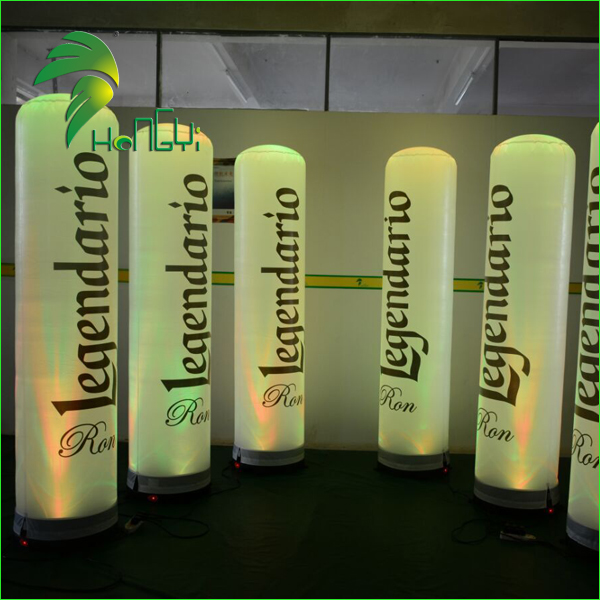 Advertising Led Light Inflatable Pillar , Inflatable Column , Inflatable Tube For Sale