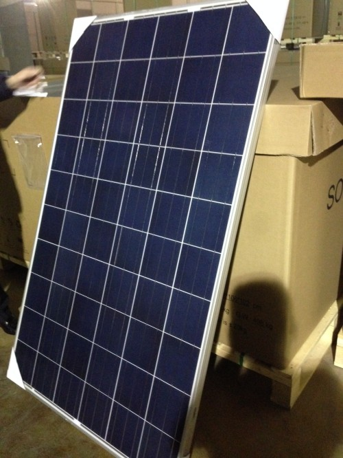 Trina 250W Poly Solar Panels with IEC Certification for Roof Solar System