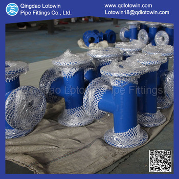 Custom Made DCI Fittings Epoxy Resin Coating All Flange Tee for Sewage Treatment