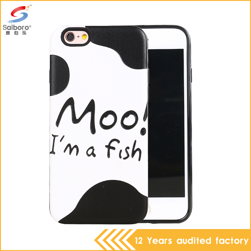 Latest mobile phone cover for iphone 6 with pc+tpu material