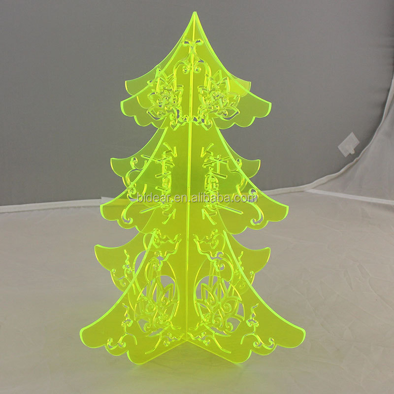 factory OEM fluorescent green acrylic christmas tree