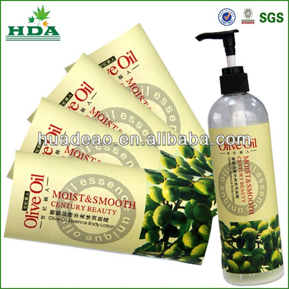shampoo sticker for bottle packaging