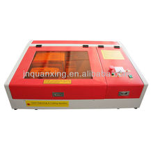 Rubbe laser stamp making machine/small arts and craft machine QX-3030/4040