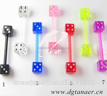 16 Gauge Bio Gem magnetic body piercing fake tongue piercing