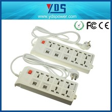 alibaba wholesale USB Power strip / surge protector with USB port / extention socket