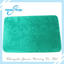 Popolar Chrismas coral fleece bath mat floor mat with high quality