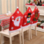 christmas decorating Old man Hats design christmas chair covers