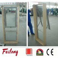 Easy assembly timber reveal aluminum frame awning glass window comply with AS2047