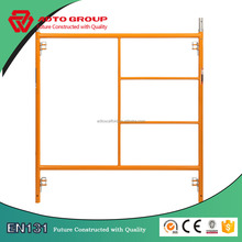 Durable different types of scaffold walk through main frame scaffolding with joint pins for sale