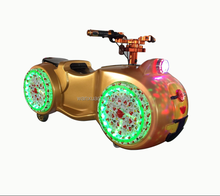 Plastic moto bike rides outdoor park racing car brick game for wholesale
