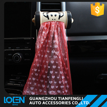 LOCEN car accessories 9.5CM*4.2CM custom printing air vent garbage bag dispenser for vehicle