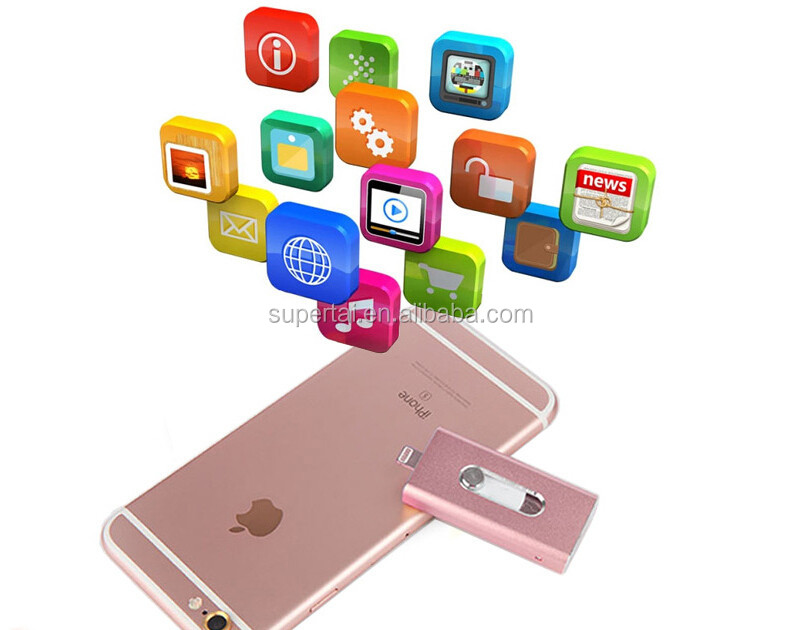 otg usb 3.0 flash drive For iPhone 6, 6 Plus 5 5S ipad HD memory stick Dual purpose mobile Otg Micro 32GB