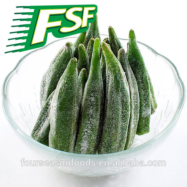 iqf frozen okra strip , whole