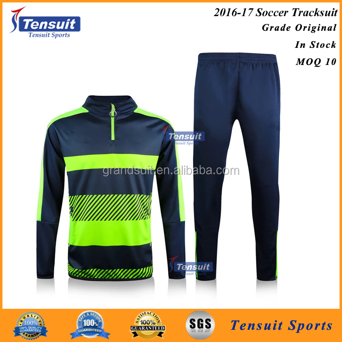 16-17 season latest design tracksuit soccer training set wholesale orginal thailand quality sportswear
