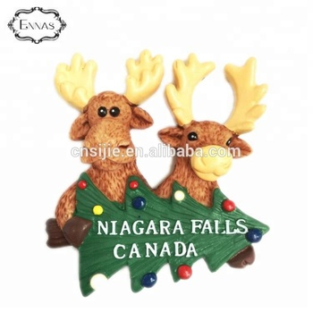 Promotion gifts custom Canada tourist souvenir resin refrigerator fridge magnet