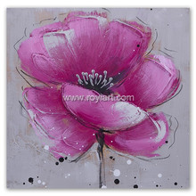 Pictures of Latest Gowns Designs of Handmade Flower Oil Painting