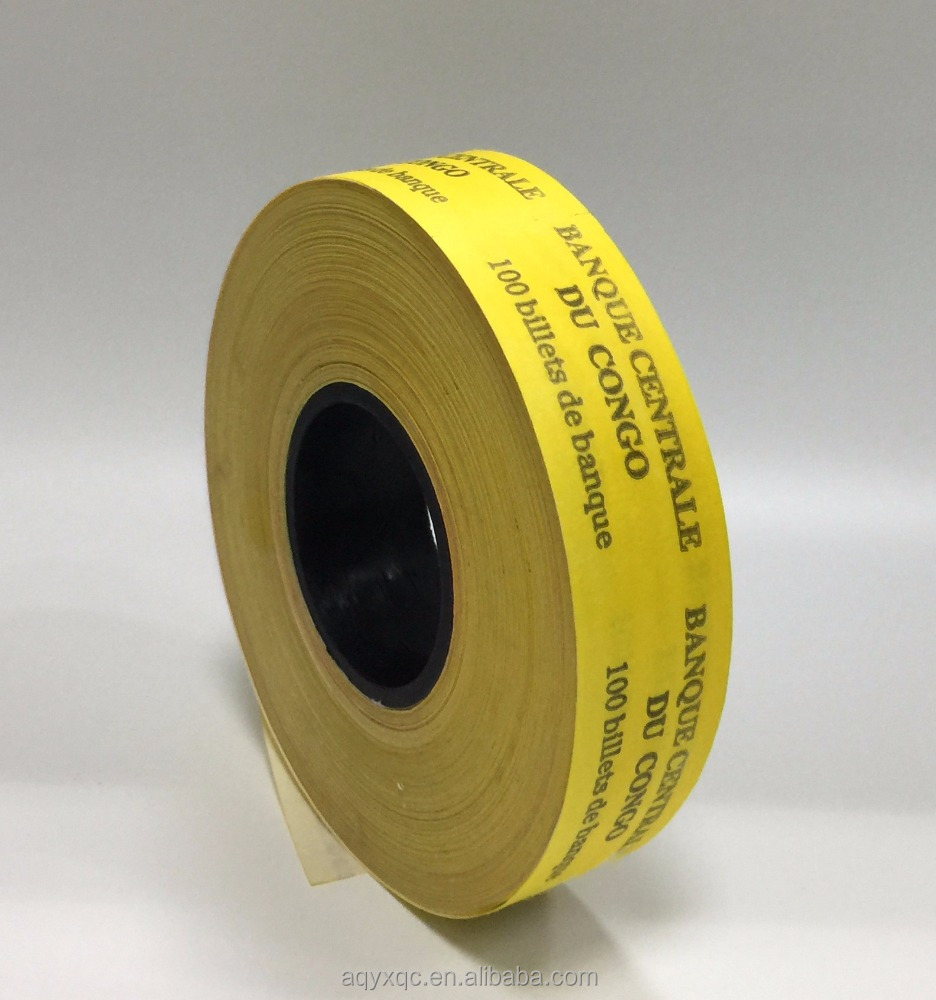 Printed packing bill tape heat adhesive banding paper <strong>roll</strong>