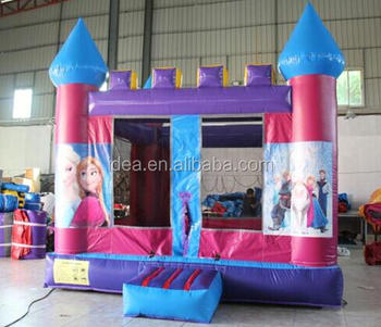 commercial used PVC 0.55mm material inflatable Frozen bouncy castle HT003