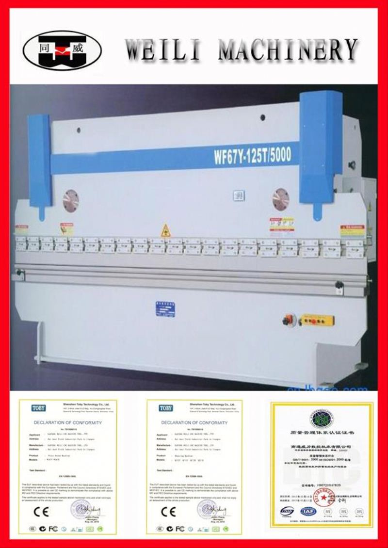 TOP OEM QUALITY!! WC67Y-100 400ton 4000mm hydraulic plate bending machine and press brake