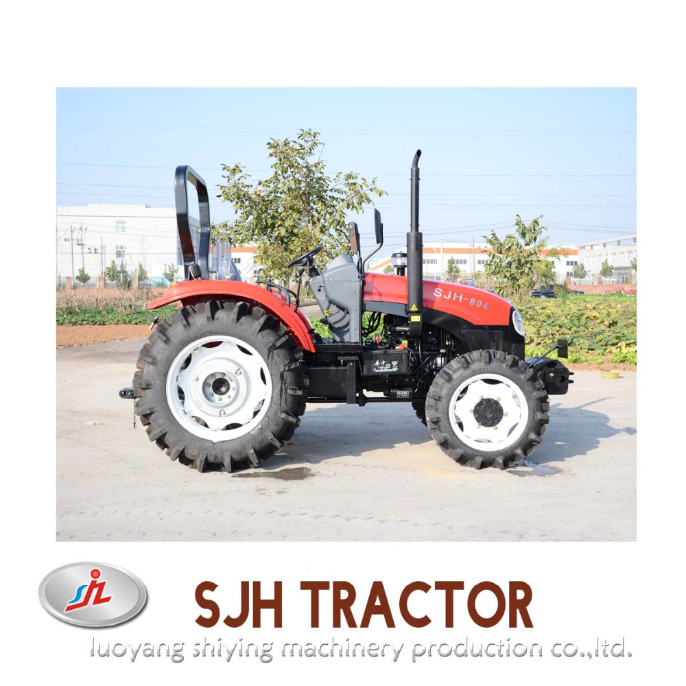 SJH 80HP 4WD diesel engine for compact tractors kubota tractor prices