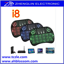 2.4G i8 remote wireless backlit mini 3 color in 1 keyboard controller
