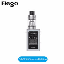 Original Smok Q-Box Kit e cigarette starter kit 50w Qbox Vape Mod 1600mah Battery with 3ml tfv8 baby tank