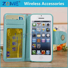 Wholesale Hyperbolic Book Smoothly PU Flip Photo Frame Mobile Phone Leather Case for Cellphone