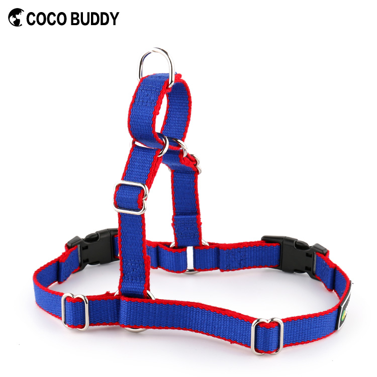 Best Quality Bamboo Material Metal D ring Adjuster Easy Walk Chain Dog Harness with Quick Release Buckle