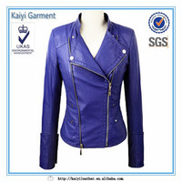 custom diginty purple leather jacket made in italy wholesale clothing