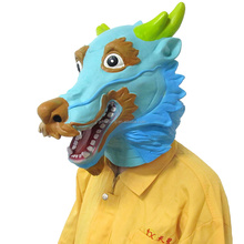 Custom Lovely Chinese Zodiac of Dragon Full Head Animal Party Latex Rubber Masks
