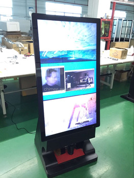 47inch news design shoe shine machine advertising player