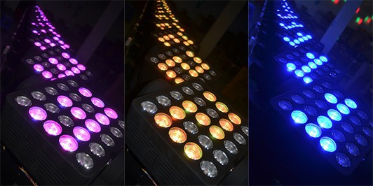 Promotion Equipment Light 25*10 RGBW Color Led Matrix Moving Head Light