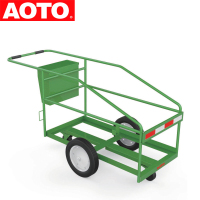 Plastic Garbage Waste Bin Cart With