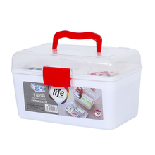 Portable medicine storage first aid kit box