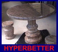Wholesale Durable coffee marble top garden table