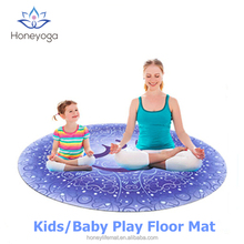 Organic Natural Rubber Printed Baby Kids Children Cushioned Activity Play Gym Yoga Mat
