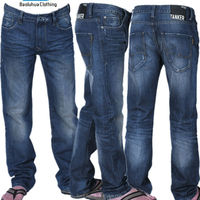 T1010 High quality comfortable fit leisure man crinkle jeans