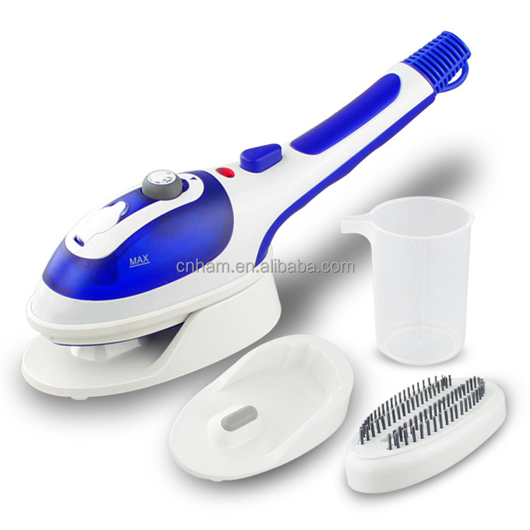mini dry and steam iron with hanger
