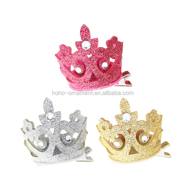 new item fashion gold kids crown hair clip hair grip