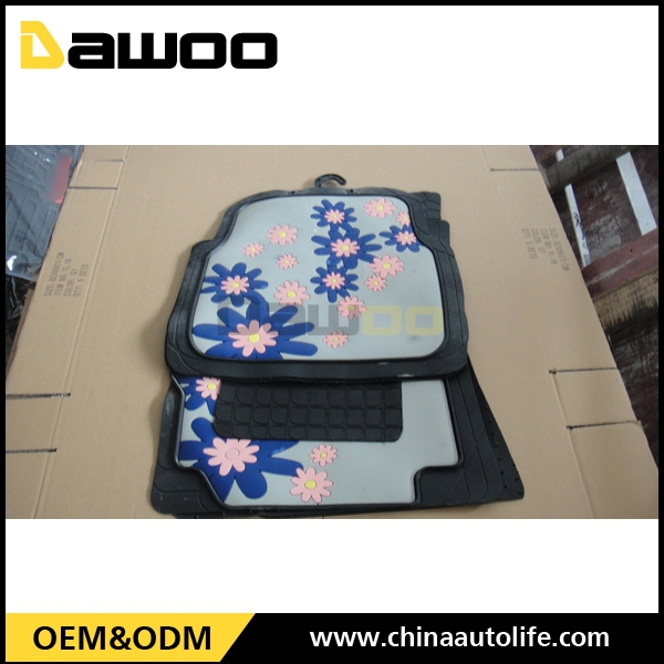Automotive accessories quality cleaning car mats for girls
