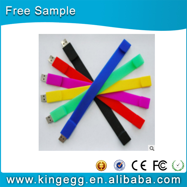 factory wholesale silicon braclet usb flash disk 2gb 4gb 8gb wristband flash usb memory stick
