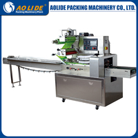 Automatic horizontal coffee pod wrapping sealing and cutting rotary pillow packing machinery ALD-400