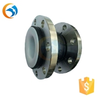 SS304 single sphere rubber bellows galvanized teflon expansion joints